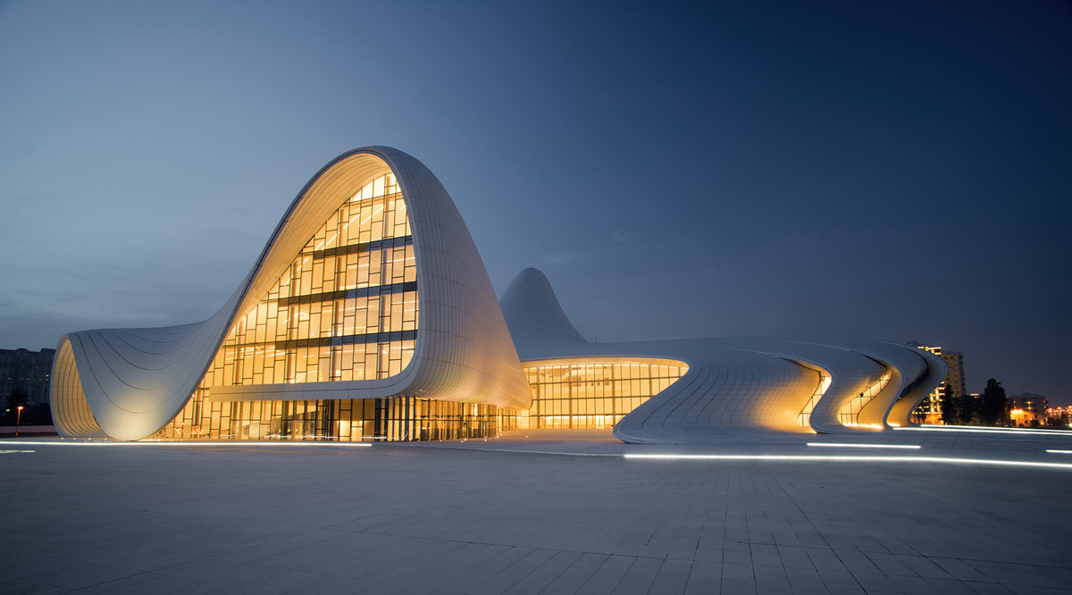Shortlisted in the Culture Category: Heydar Aliyev Centre in Azerbaijan by Zaha Hadid Architects (Photo courtesy of World Architecture Festival)