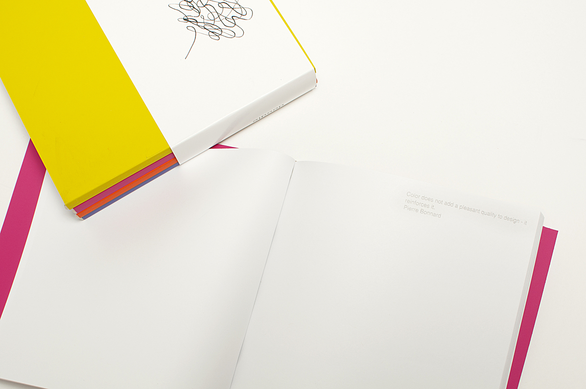 each one has quotes inside from successful Designers that all pertain to the act of drawing, creating and inventing.
