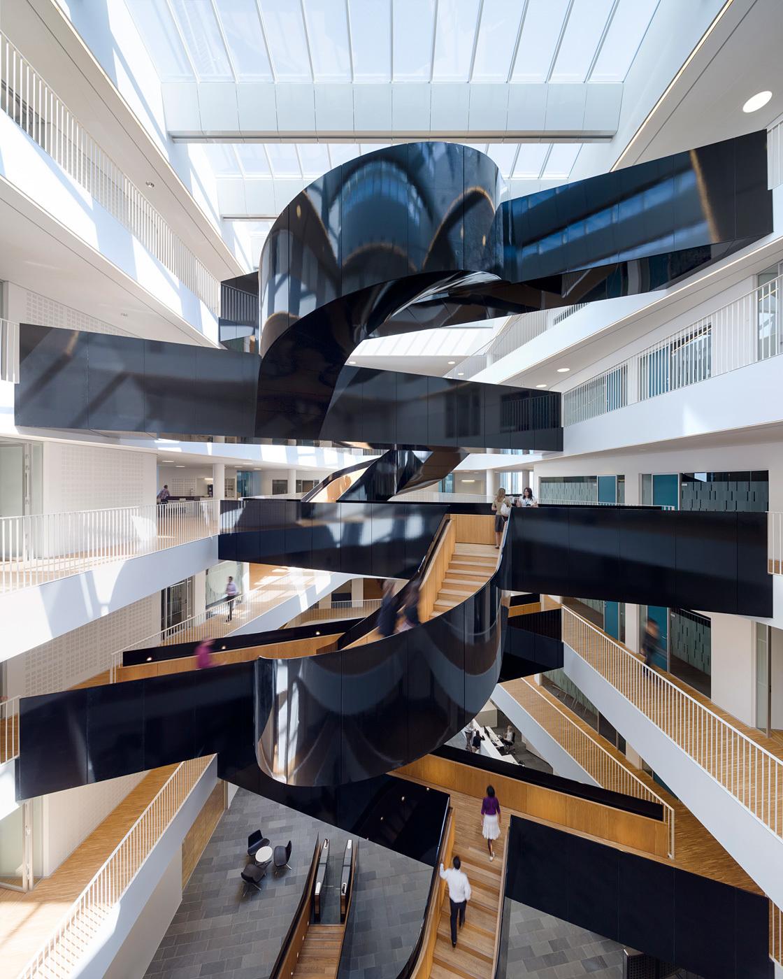 Interior of the newly inaugurated Copenhagen UN City building by 3XN (Photo: Adam Mørk)