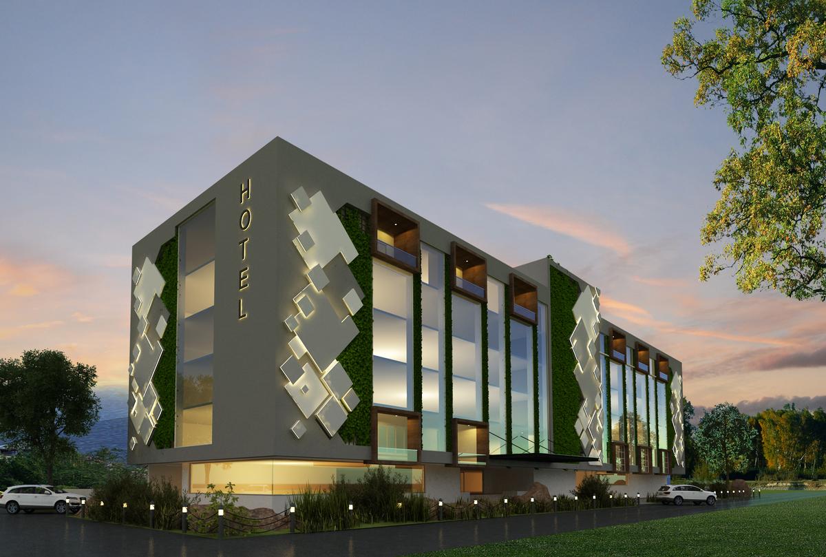 3 star hotel at vijayawada apse design aafak shaikh
