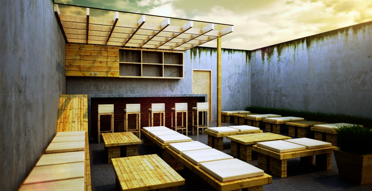 CC outdoor cafe | Pandu Pebruanto | Archinect