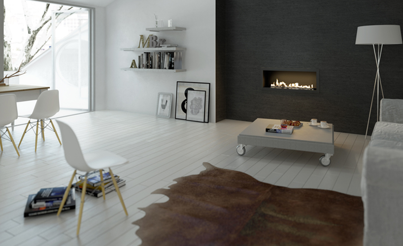 Fire Line Automatic model E by Planika, bio fireplace on ethanol