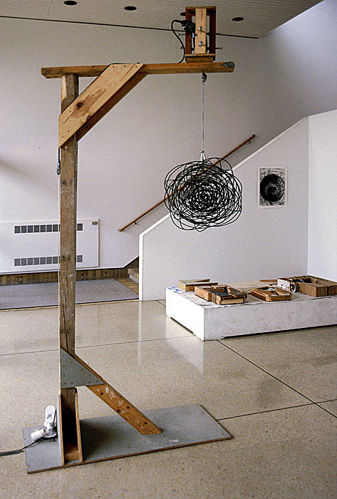Black Hole, Electric Drill, Motion Sensor, Steel Wire, Wood