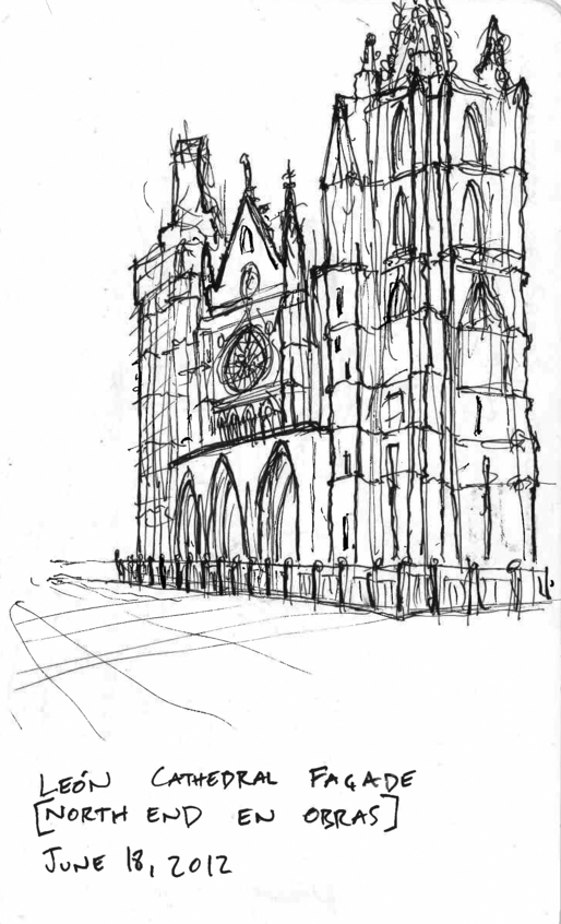 Quick sketch of León's famous Cathedral via Alexander Morley