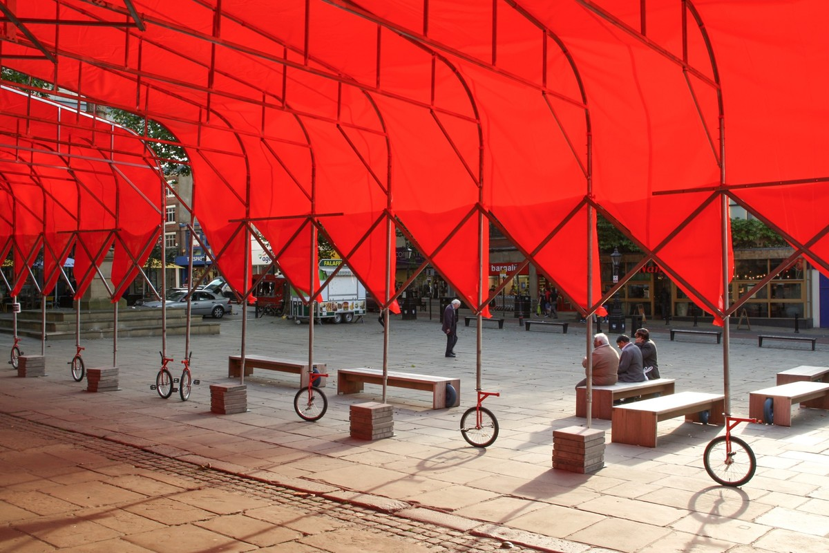 The 'People's Canopy'. Image courtesy the People's Architecture Office.