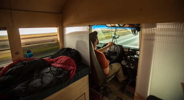 The driver's seat. Photo: Justin Evidon