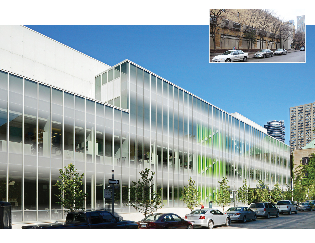 Before and After 2: The School of Image Arts now has visibility and connectivity with the campus