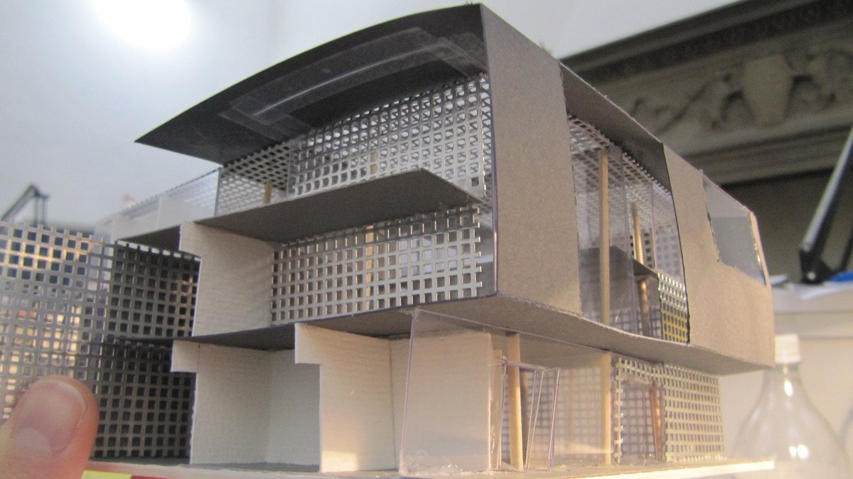 Sgambati_Palazzo Tasso Community Center_exterior shot_model