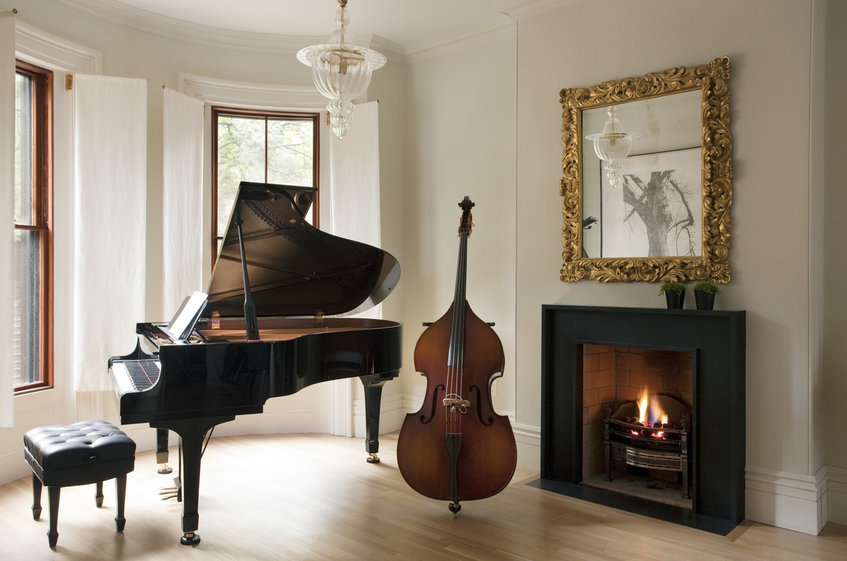 View of Music Room at front of house.