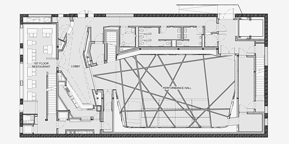 Original Music Workshop | First Floor Plan