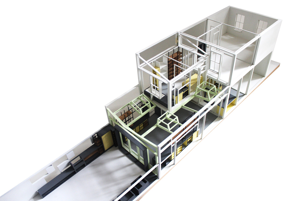 Concrete House model, courtesy of Studio Gil.