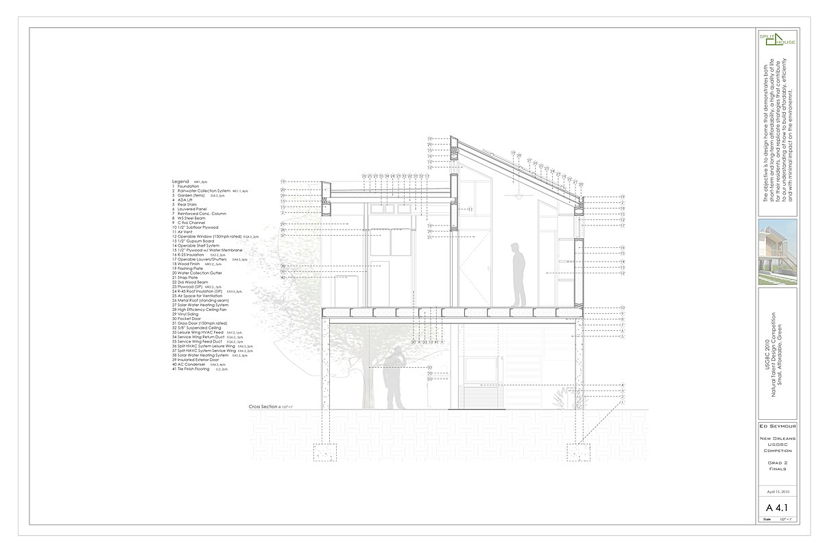 SSPLIT House Cross Section