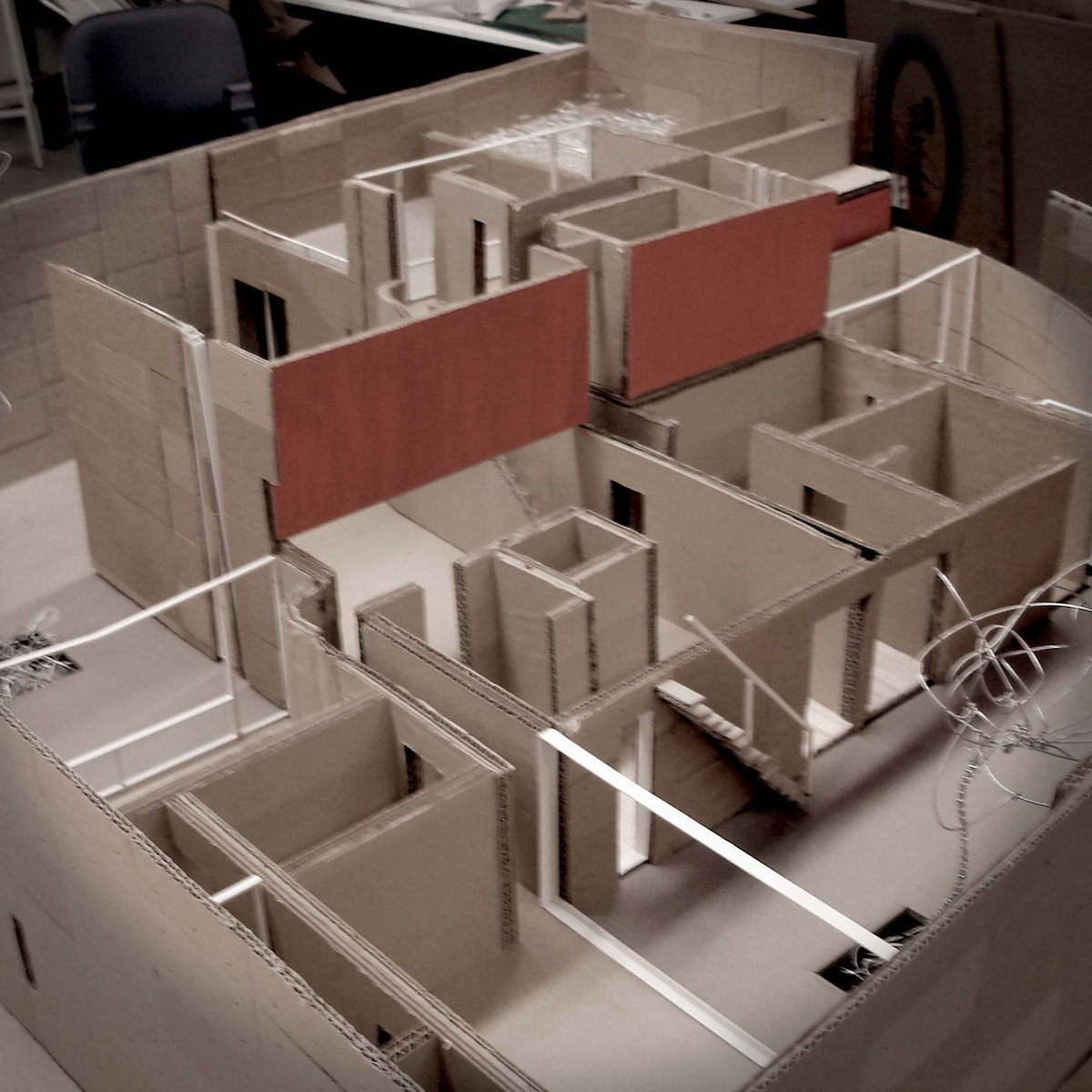 Cardboard model house