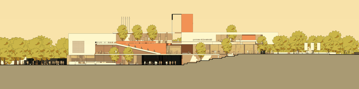 017 – FRONT ELEVATION | 1/200 - Image Courtesy of ONZ Architects