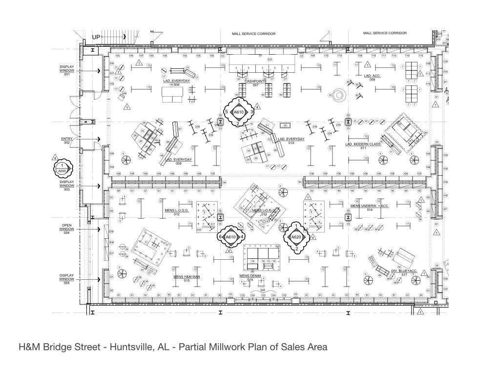 H m bridge street town center huntsville al sharon for Clothing store floor plan layout