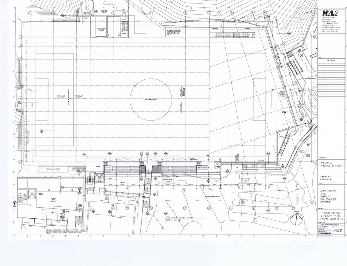 Field level and Roof Plan