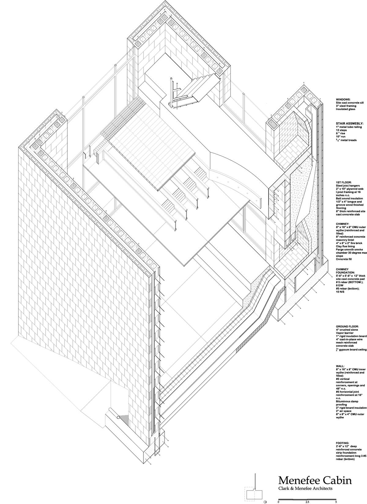 Autocad drawing - Meneffee Cabin