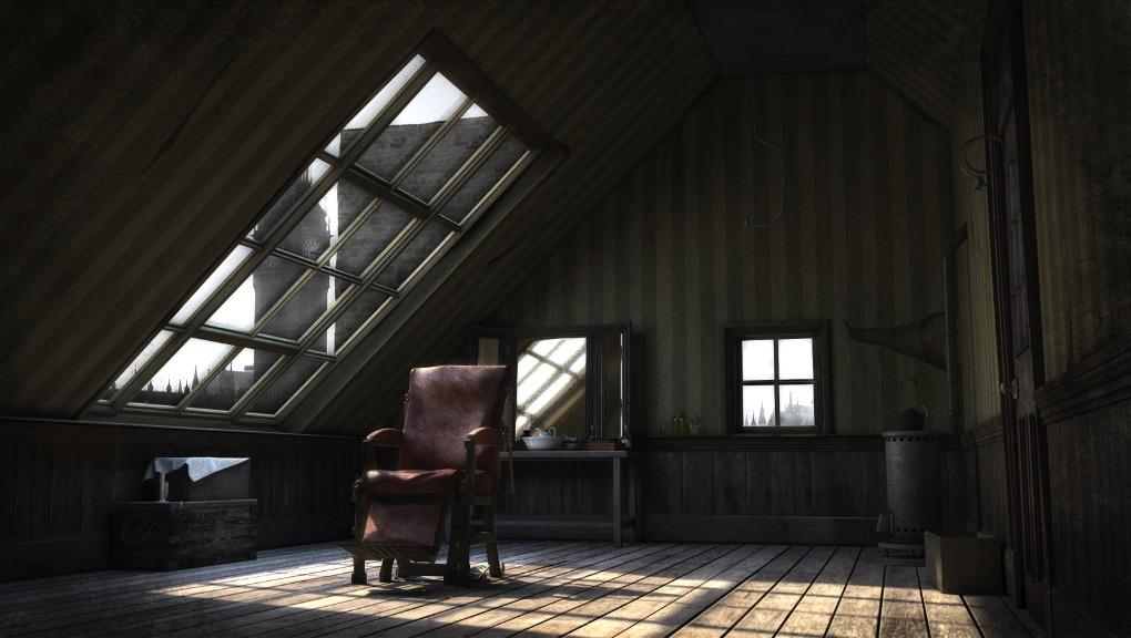 Sweeney Todd's barbershop. Rendering via benmarouski.com.