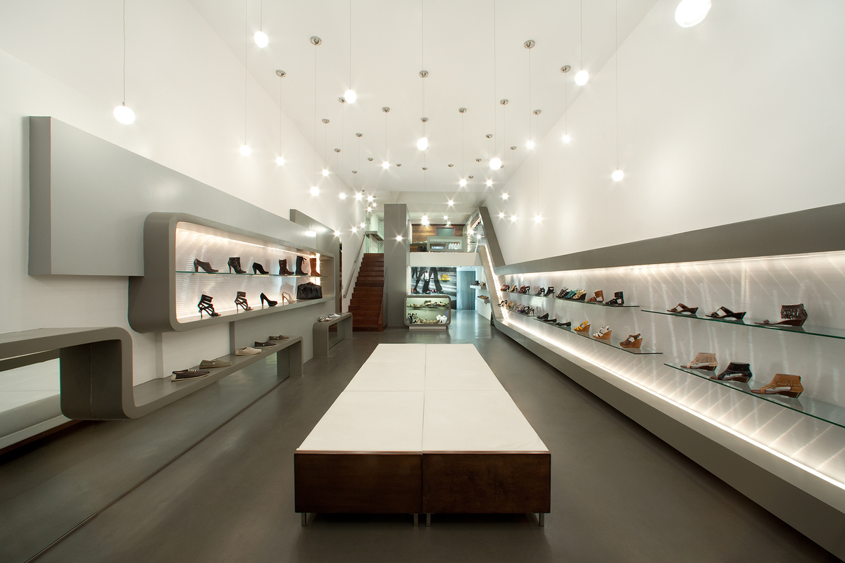 Sway shoe store clay aurell archinect for Commercial space design