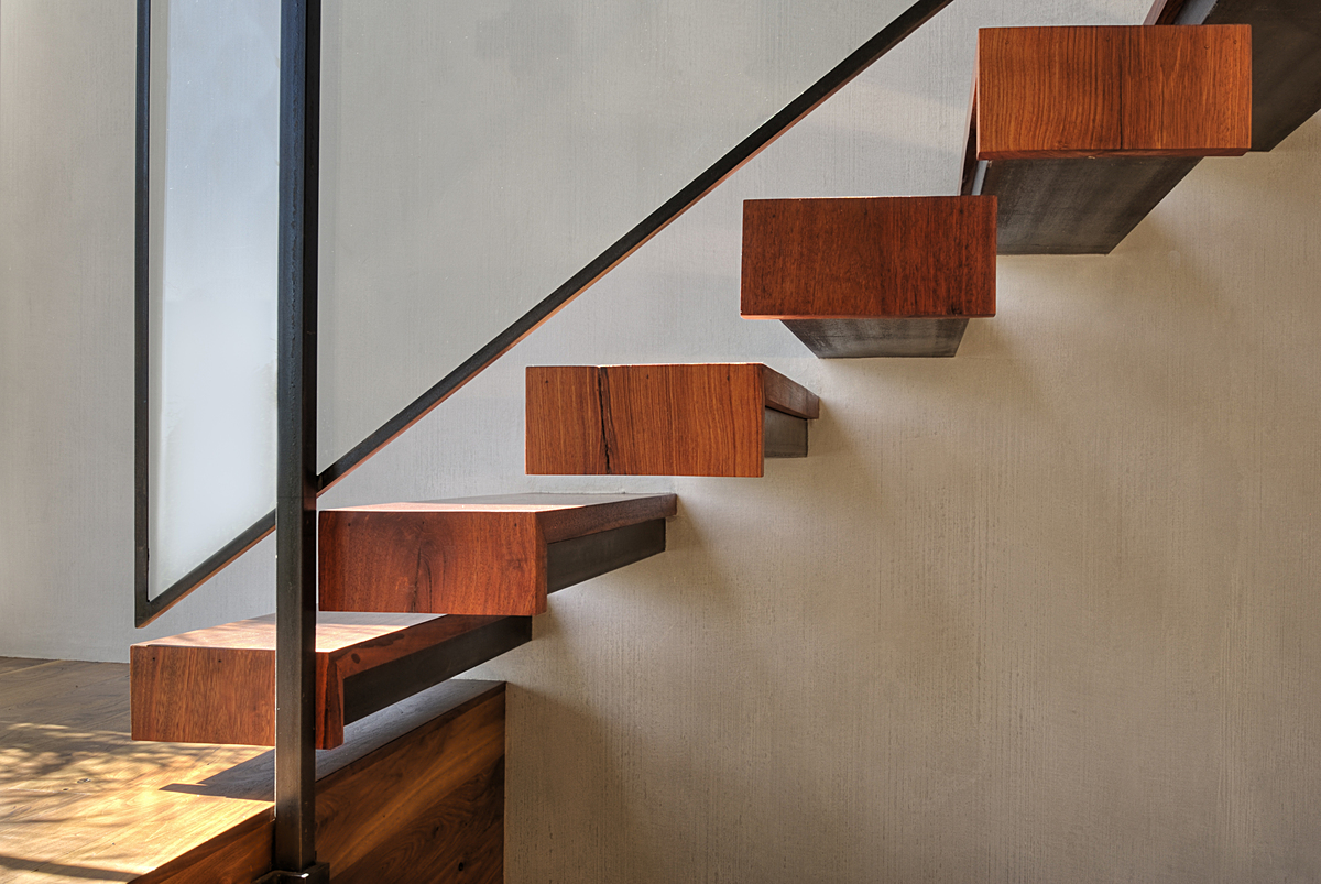 West hollywood residence fer studio archinect Floating stairs