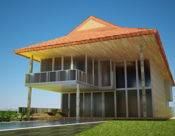 3d model in autocad and rendered in 3d max with v-ray plugin
