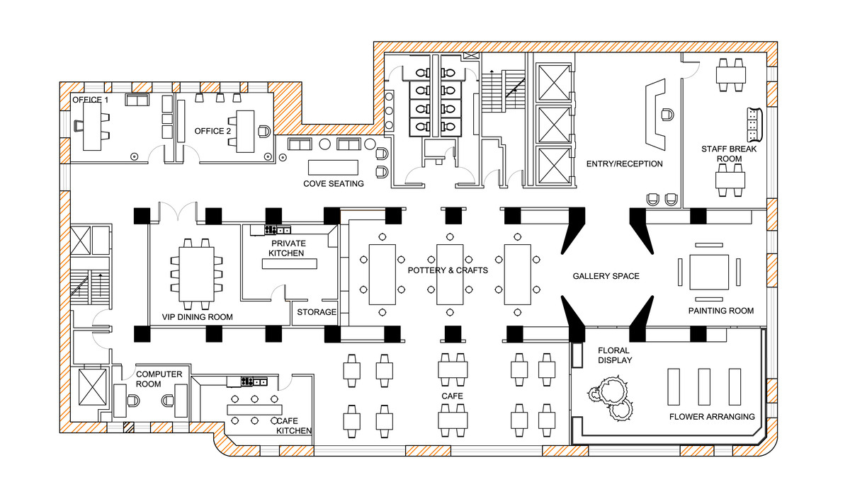 Senior Center Floor Plan