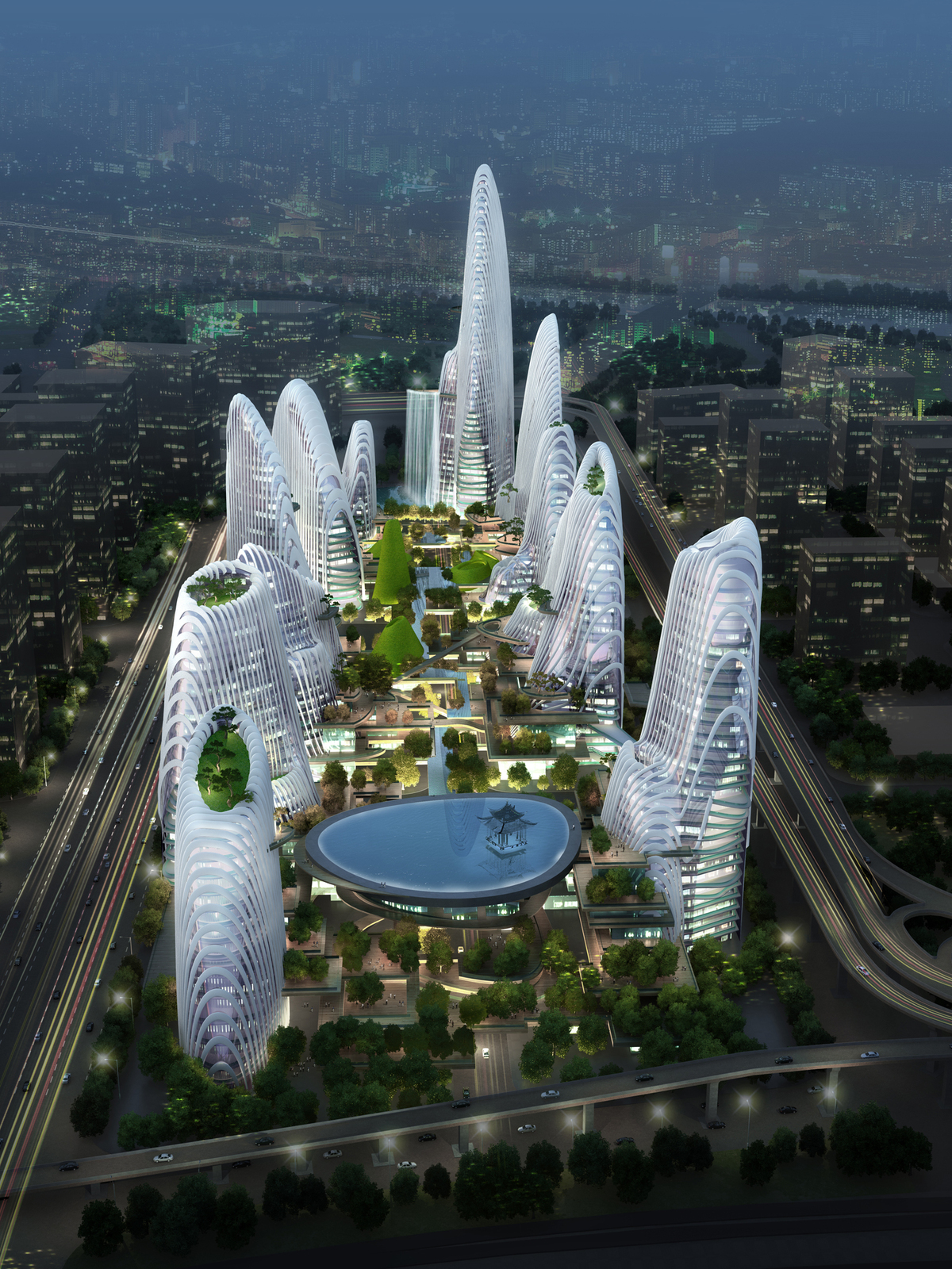 Nanjing Zendai Himalayas Center, courtesy of MAD Architects.