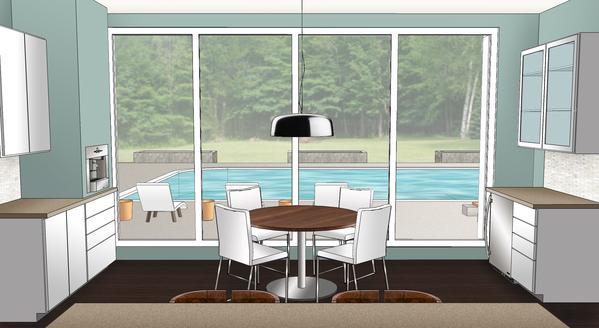 Kitchen rendering.