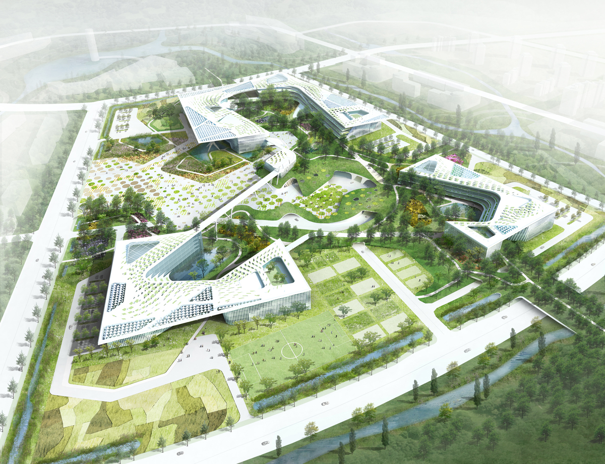 Chungnam government complex h architecture archinect for Landscape architecture