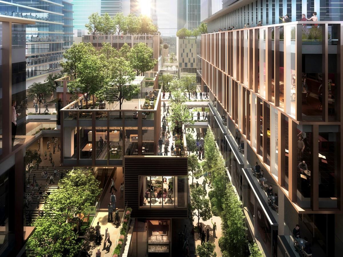 Chegongmiao Urban District, Shenzhen, China. © KPF.