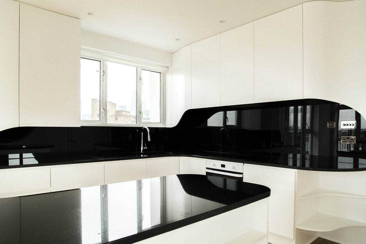 Wapping atmos studio archinect for Kitchen black wall