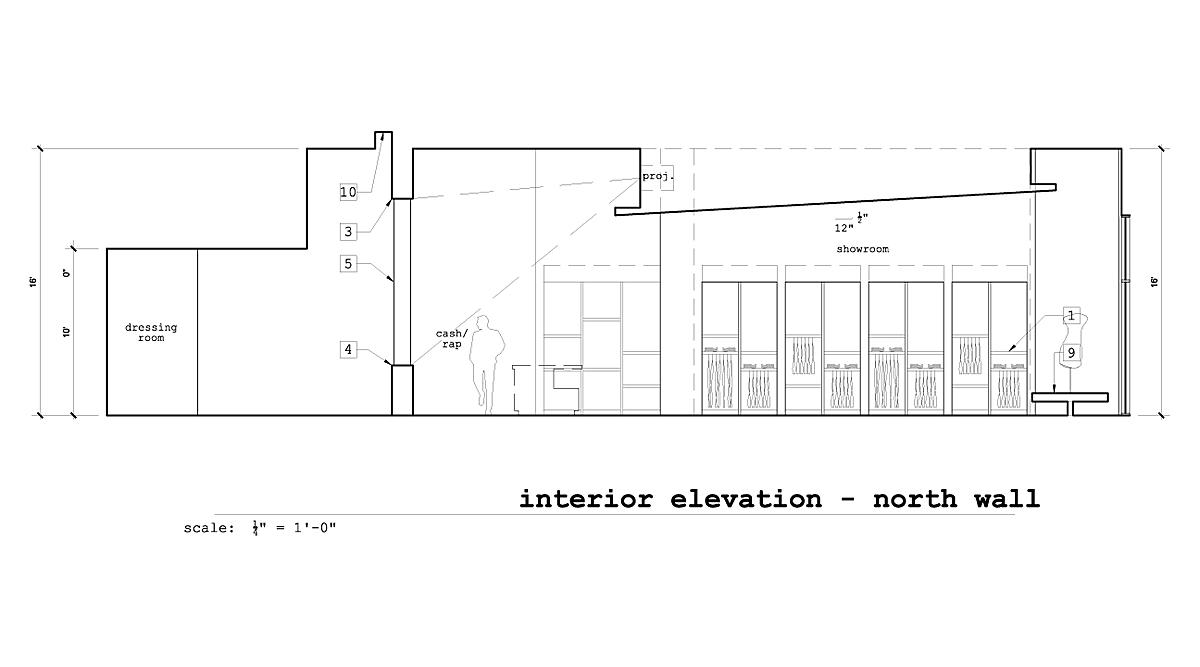 Interior Elevation North