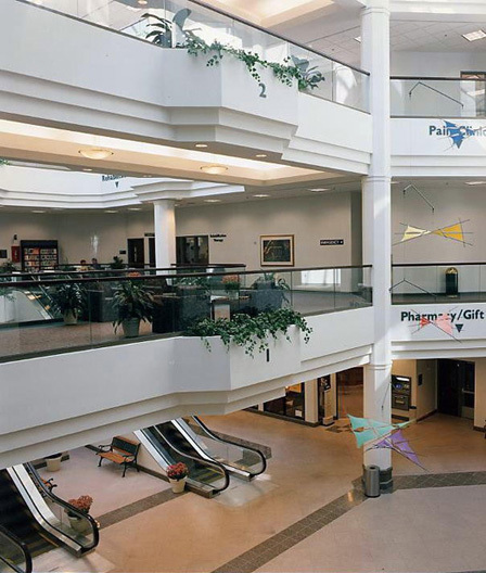 Atrium of the Medical Mall.