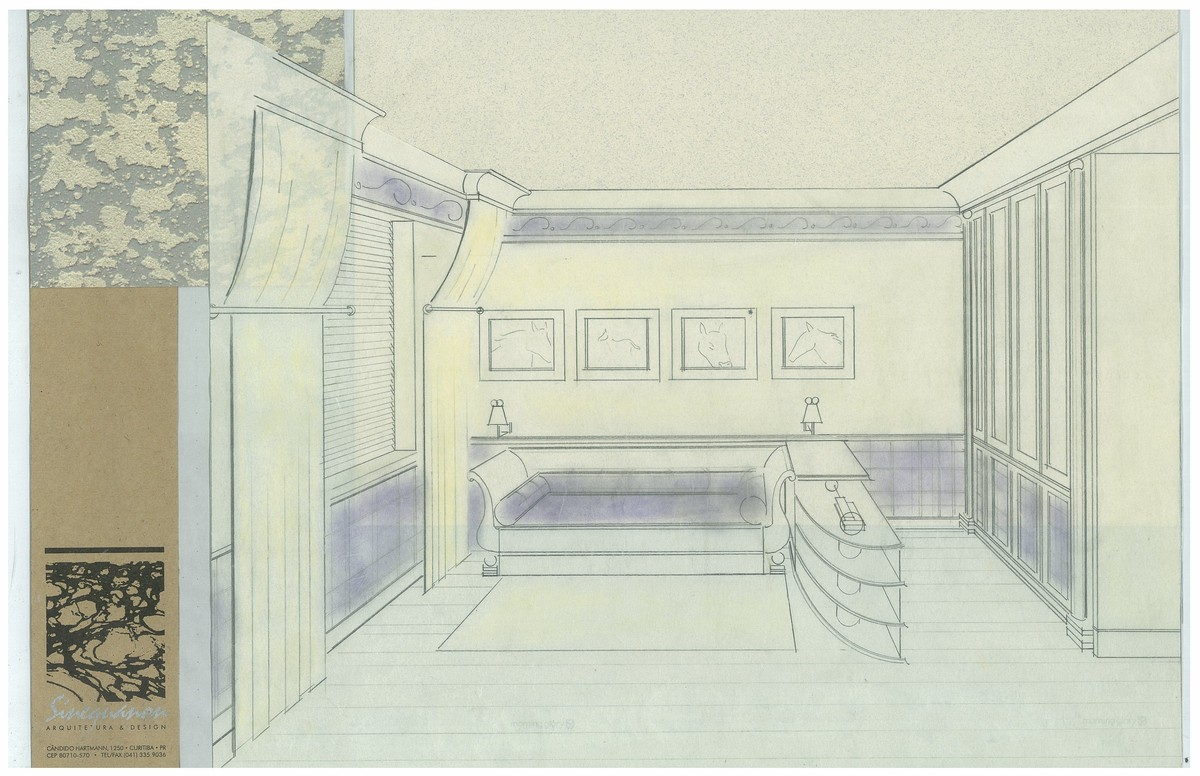 Boy's Bedroom | Interior Hand-Sketch
