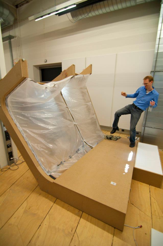 1:1 working prototype of part of the the inflatable facade