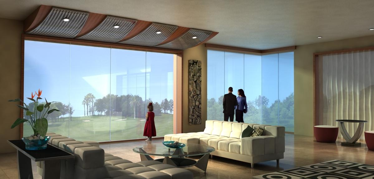 apartment interior at golf course