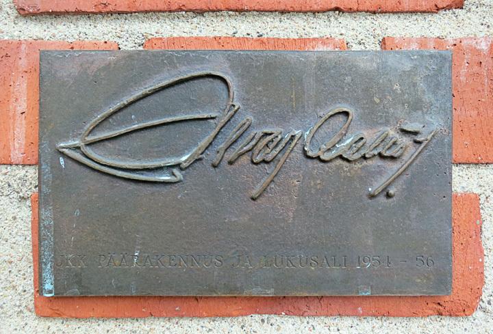 Alvar Aalto Signature at Jyväskylä University