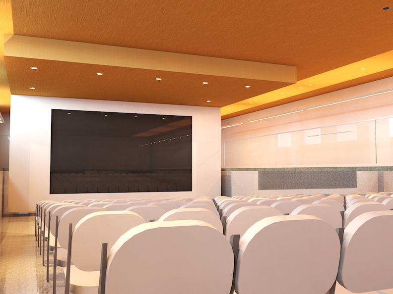 Existing Pool converted to a Theater