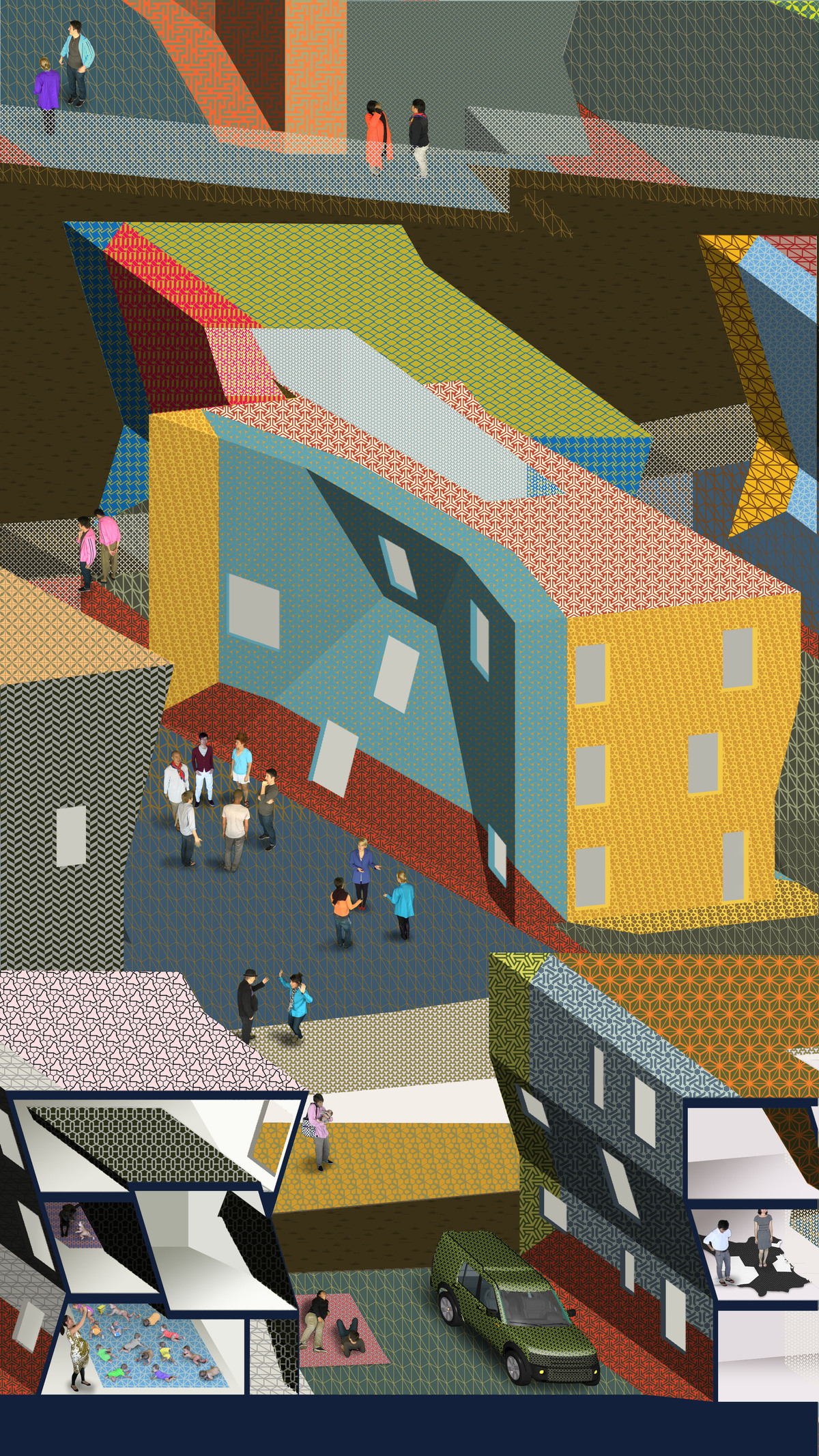 Still from View of Life in the New Development, an animation produced as part of Zago Architecture's Property with Properties project. Image courtesy Zago Architecture.