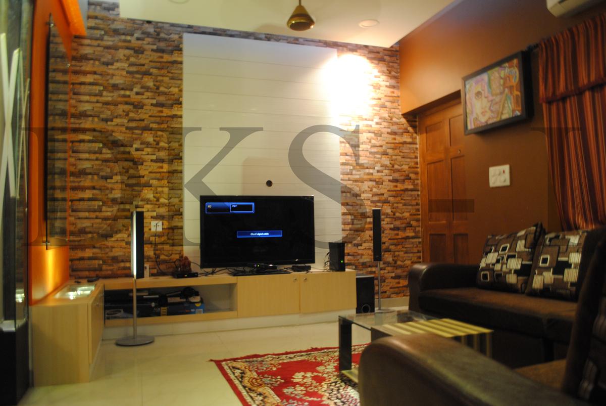 Tv Panel Designs For Living Room Residential Interior Design For Mrbalaji Gopalan Mogappair