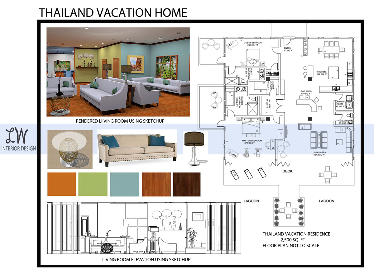 Interior design portfolio lauren williams archinect for Interior design layout drawing
