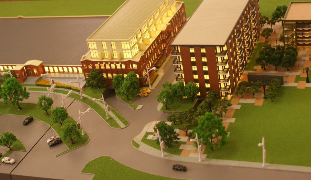 Architectural and landscaping model making for cotton mill for Architecture t scale