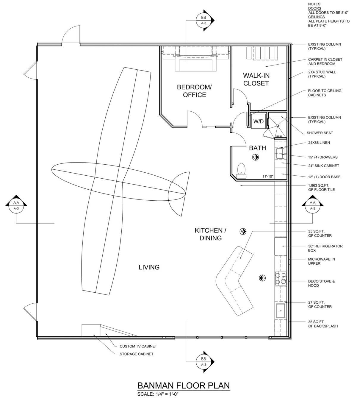 Banman live work airplane hangar james mcgarry archinect for Aircraft hangar home designs