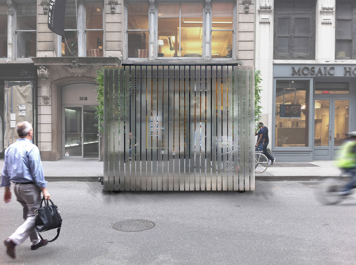Screen Play, the proposal by Collective–LOK, wins Ground/Work: A Design Competition for Van Alen Institute's New Street-Level Space
