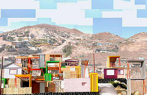 Manufactured sites by Teddy Cruz, Border of San Diego (USA) and Tijuana (Mexico); source: www.moma.org