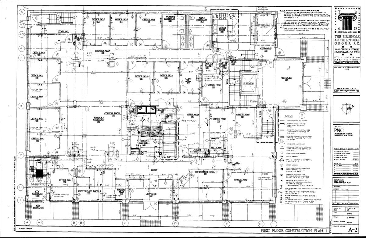 First floor architectural plan