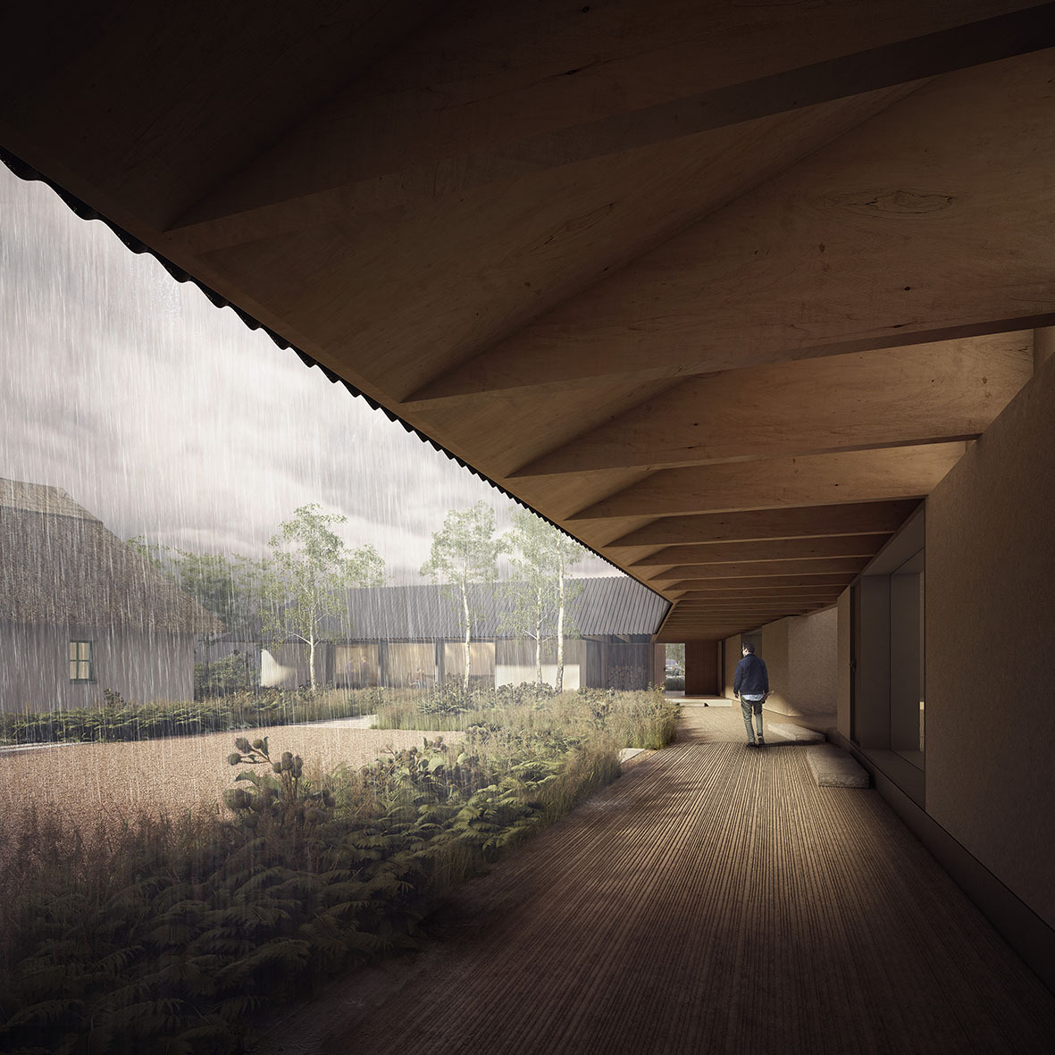 Visualization of Joseph Walsh Studio courtyard. Credit: IF_DO / Forbes Massie
