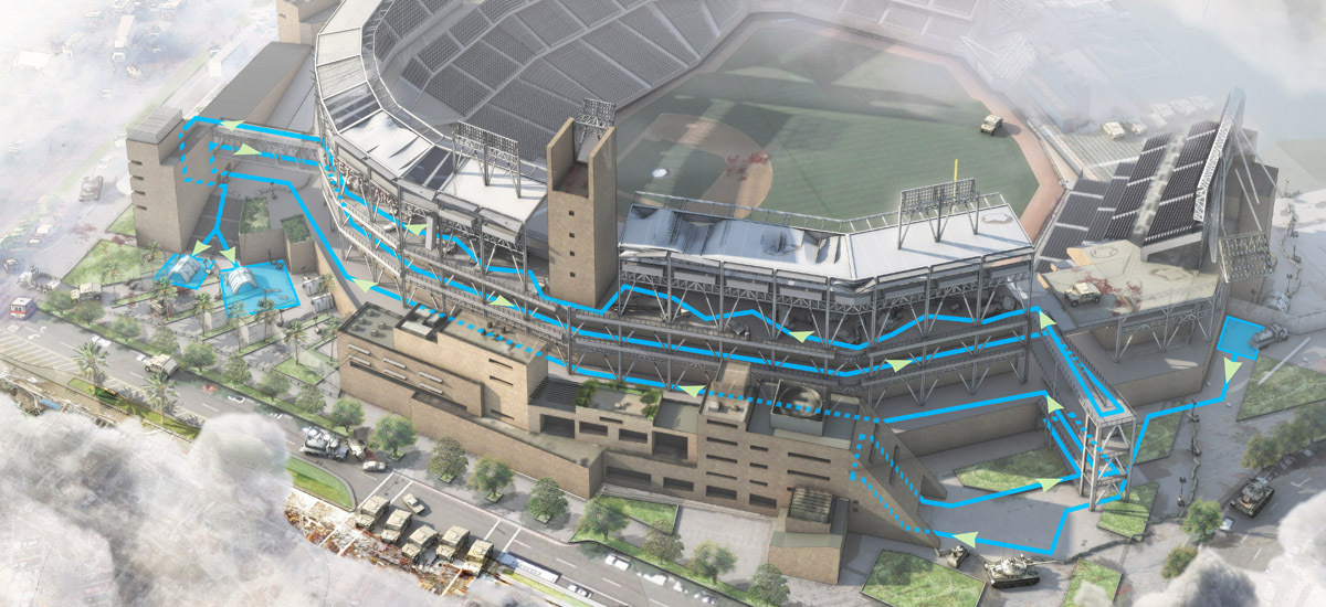 Petco Park at beginning of Zombie Apocalypse
