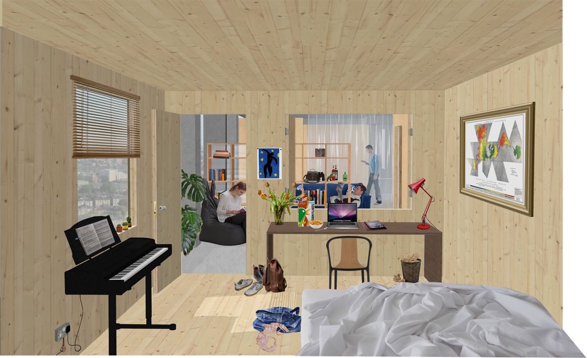 A view of the withdrawing room in the hi-rise proposal. Credit: ED/GY