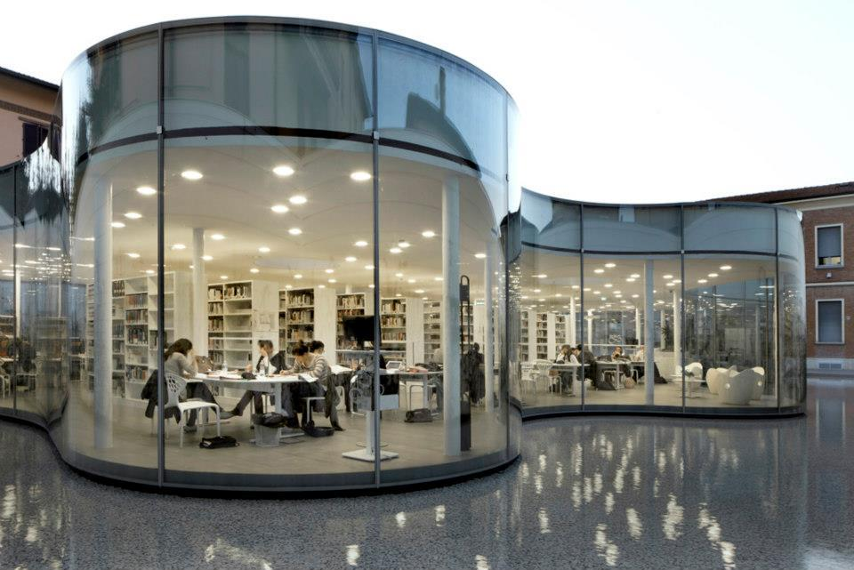 New town library in maranello italy andrea maffei for Architecture firms in italy